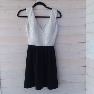 CANDIES white and black dress